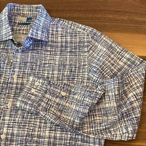 14th & Union Pattern Dress Shirt - L